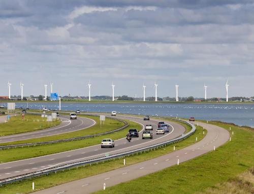 Windturbines op de Afsluitdijk